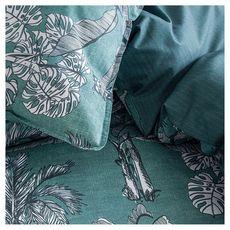 TODAY Parure housse de couette fantaisie en coton 57 fils IRIS (Vert)