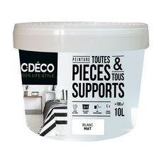 CDECO Peinture de décoration couleur blanc mat