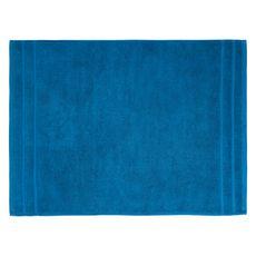 ACTUEL Tapis de bain uni en coton éponge tissé 1000 gr/m2  (Bleu foncé)