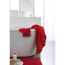 TODAY Tapis de bain uni en polyester 1500G/M²  BUBBLE (Rouge )