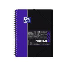 OXFORD Cahier à spirale 24x32 cm 160 pages grands carreaux Seyes Nomadbook violet et noir