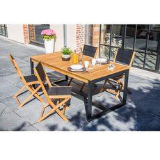 GARDENSTAR Table de jardin 180x100 cm bois SAHARA