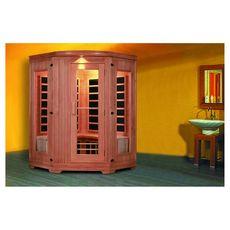 Sauna infrarouge 4 personnes en bois de cèdre rouge