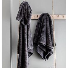TODAY Plaid ultra doux en polyester effet tricoté GRAPHITE