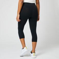 IN EXTENSO Legging court de sport noir femme (Noir)