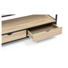 Meuble TV métal et bois 2 tiroirs HOUSTON (Bois)