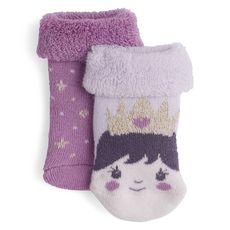 IN EXTENSO Lot de 2 paires de chaussettes bébé fille (Parme)