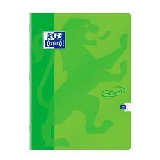 OXFORD Cahier piqué 24x32cm 96 pages grands carreaux Seyes Touch vert
