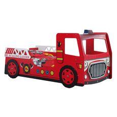Lit enfant camion POMPIER 90X200cm+leds