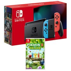 EXCLU WEB Console Nintendo Switch Joy-Con Bleu et Rouge + Pikmin 3 Nintendo Switch