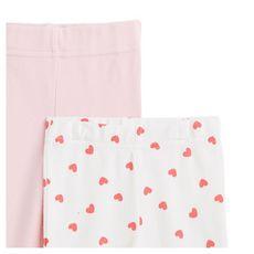 IN EXTENSO Lot de 2 pantalons de naissance bébé fille (Rose pale)