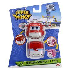 Auldey Super Wings - Figurine FLIP SURPRISE Jett & Dizzy