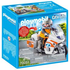 PLAYMOBIL 70051 - City Life - Urgentiste et moto