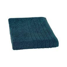 Drap de bain uni en coton 450gr/m² ALIX (Vert bleu)