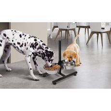 Idomya E. Double gamelle pour chiens diam 21 cm hauteur ajustable