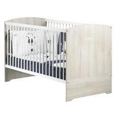 BABY PRICE Lit bébé évolutif 140x70 cm Little Big Bed HAPPY, Hêtre cendré