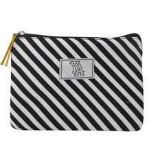 AUCHAN Trousse plate noire et blanche motif lignes YOUNG'S ATTITUDE
