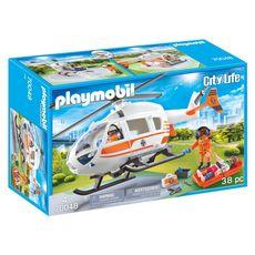 PLAYMOBIL 70048 - City Life - Hélicoptère de secours