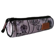 AUCHAN  Trousse ronde fille Basic Romantic gris motif floral