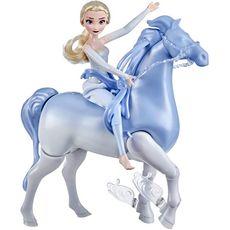 HASBRO Disney La Reine des Neiges 2 - Poupée Princesse Disney Elsa 30 cm et son cheval Nokk interactif 23cm