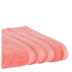 ACTUEL Serviette invité unie en coton  500 g/m² (Rose corail)
