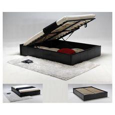Lit coffre TORINO 160 x 200 cm + sommier TIVOLI (Noir)