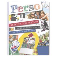 CLAIREFONTAINE Cahier piqué couverture personnalisable polypro 24x32cm 96 pages grands carreaux Seyes