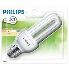 PHILIPS Ampoule génie E27 eco énergie 18w warm light 1100 lumen x1 1100 lumen 1 pièce