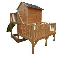 Soulet Cabane de jardin enfant en bois avec 3 niveaux JANIA