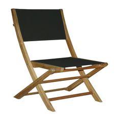 GARDENSTAR Chaise en bois et textilène JAVA