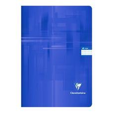 CLAIREFONTAINE Cahier piqué 24x32cm 48 pages petits carreaux 5x5 bleu