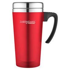 Thermos mug de voyage avec anse 420 ml rouge