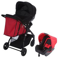SAFETY FIRST Poussette trio Amble rouge