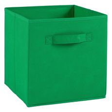 Tiroir boîte en tissu et carton BRIK, 12 coloris (Vert)