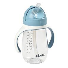 BEABA Tasse paille 300 ml  (Bleu)