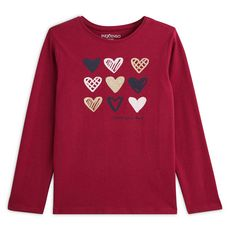 IN EXTENSO T-shirt manches longues coeurs fille