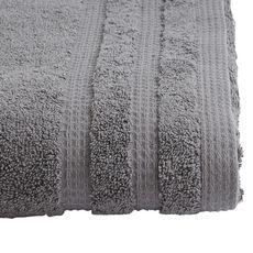ACTUEL Drap de bain uni en coton bio organique 540 gr/m2 (Gris foncé)
