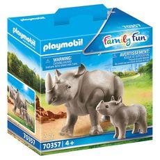 PLAYMOBIL  70357 - Family Fun - Rhinocéros et son petit