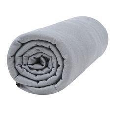 PTIT BASILE Lot x2 draps housse jersey extensible coton Bio  (Blanc/Gris foncé)