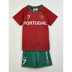 IN EXTENSO Ensemble de foot Portugal enfant (Vert)