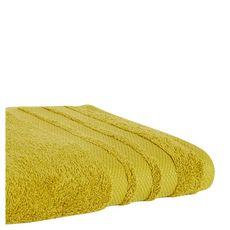 ACTUEL Drap de bain uni en coton 500 g/m² (Jaune)