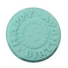 ACTUEL Moule happy birthday 25cm en silicone bleu