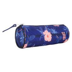 YOUNG'S ATTITUDE Trousse scolaire ronde polyester bleue imprimé floral
