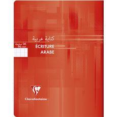 CLAIREFONTAINE Cahier écriture droite/gauche 17x22cm 96 pages-rouge