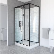 Aurlane Cabine de douche rectangulaire Métro 110 - 110 x 80 x 219 à 230 cm