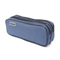 OXFORD Trousse 2 compartiments rectangle bleue foncée