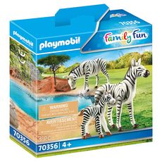 PLAYMOBIL 70356 - Family Fun - Couple de zèbres avec bébé