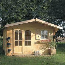 SOLID SUPERIA Abri jardin bois CHAMONIX 2, 10.99m², madriers 40mm