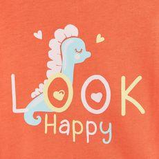 IN EXTENSO T-shirt manches courtes bébé fille (Orange)