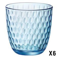 BORMIOLI ROCCO Set de 6 verres à eau SLOT ACQUA Bleu 29 cl (Bleu)